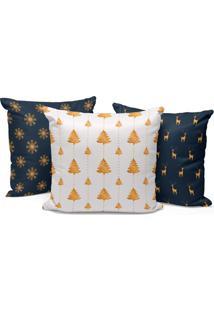 Kit 3 Capas Para Almofada Love Decors Decorativas Modern Christmas - Kanui