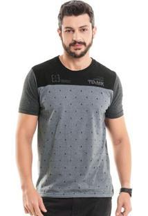Camiseta Raios Cinza Bgo