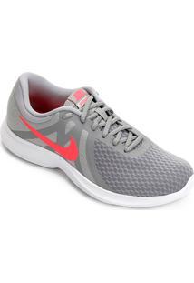 c40cfdc8e8 ... Tênis Nike Wmns Revolution 4 Feminino - Feminino-Cinza+Vermelho