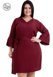 986678c1a894 Vestido Plus Size Vinho feminino | Shoelover