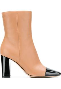 Gianvito Rossi Ankle Boot Bicolor - Preto