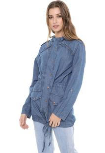 Jaqueta Parka Jeans Dress To Denim Eco Azul