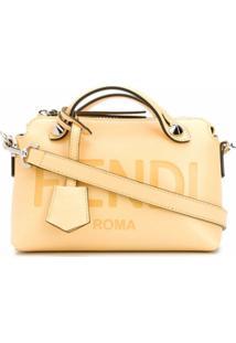 Fendi Bolsa Tote De Couro - Amarelo