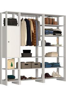 Guarda-Roupa Modulado Closet 10137 - Nova Mobile - Branco