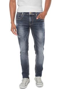 Calça Jeans Sawary Reta Azul Azul