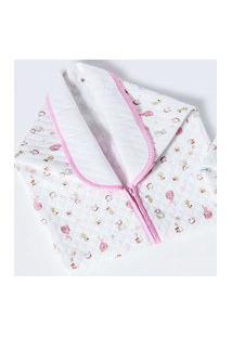 Cobertor Menina Baby Sac Jolitex Com Detalhes Em Rosa