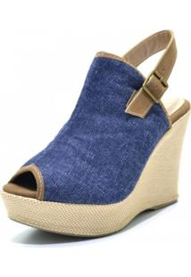 Sandália Anabela Stefanello 3015 Jeans
