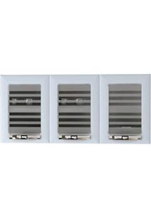 Armário Colormaq Class Slim Ap3Pv 3 Portas Com Vidro - Branco