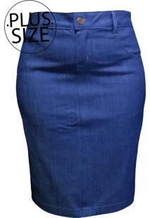 Saia Jeans Lojas Vicenttino Azul - Azul - Feminino - Dafiti