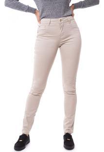 Calça Feminina Pitt Sarja Skinny Bege - 36