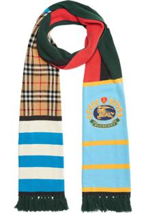 Burberry Echarpe Xadrez Color Block De Cashmere - Estampado