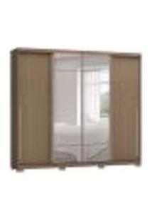 Guarda-Roupa Casal Com Espelho Kenn 4 Pt Marrom