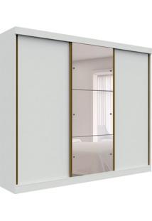 Guarda-Roupa Casal Com Espelho San Marino 3 Pt Branco