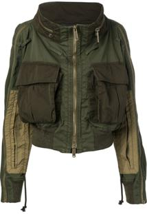 Dsquared2 Oversized Pocket Military Jacket - Green