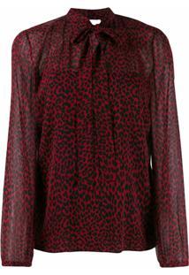 Redvalentino Blusa Animal Print - Vermelho
