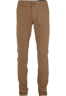 Calça Ralph Lauren De Sarja Chino Stretch Slim Fit Marrom - 21943