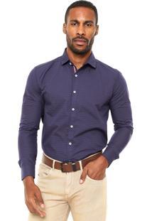 Camisa Malwee Slim Fit Roxa