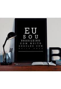 Quadro Decorativo Com Moldura Brasilieiro Preto