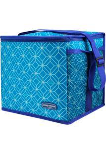 Bolsa Térmica Feminina Grande Jacki Design Praia Piquenique Azul - Kanui