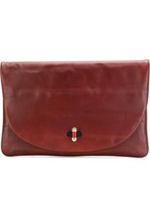 Tommy Hilfiger Oversized Clutch Bag - Marrom