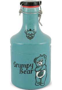 Garrafão Growler Steel-Grumpy Bear 2Litros-Mondoceram - Turquesa