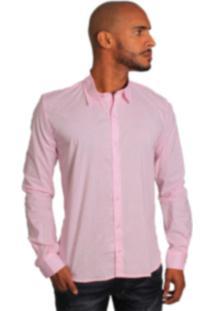 Camisa Social Joss Colors Rosa Claro
