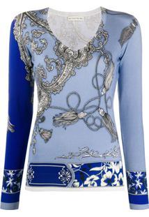 Etro Blusa Com Estampa Paisley - Azul