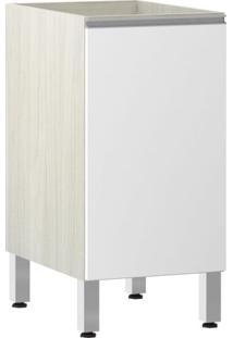 Módulo Cozinha Balcão Sem Tampo Lis 1 Porta - 40Cm - 2503/185 - Branco Mat - Prime Plus - Luciane