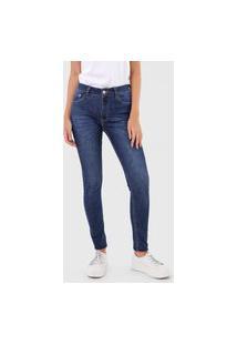 Calça Jeans Lez A Lez Skinny Estonada Azul