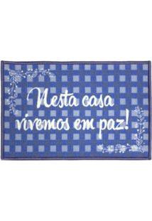 Tapete Cleankasa 40X60Cm My Door Peace Multicor Kapazi
