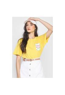 Camiseta Hering Smile Amarela