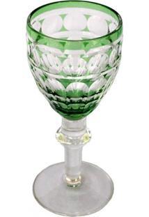 Conjunto De Taças De Licor Em Vidro Verde 6 Peças