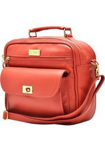 Bolsa Hendy Bag De Mão Com Bolsos E Alça Transversal - Feminino-Laranja