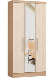 Modulo Com 3 Portas E 2 Gavetas C/ Espelho Infinity 3830A-Castro Móveis - Nogueira / Nudi