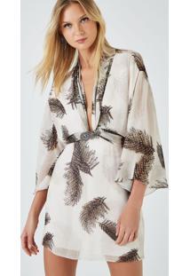 Top Kimono Amarração Broche Est Broche Areia - 36