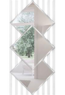 Espelho Decorativo Salerno 58X120 Cm Branco