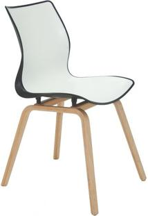 Cadeira Maja- Branca & Preta- 84,5X59,5X46Cm- Trtramontina