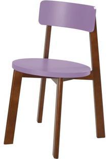 Cadeira Lina Cor Cacau Com Roxo - 31539 Sun House