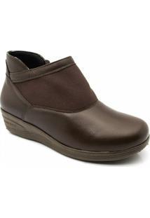 Sapato Feminino 208 Em Couro Café Doctor Shoes - Feminino-Marrom