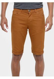 Bermuda Sarja Preston Reta Color Masculina - Masculino