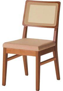 Cadeira Com Assento Estofado 5513-Monte Carlo - Imbuia