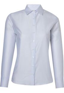 Camisa Dudalina Cetim Feminina (Branco, 46)