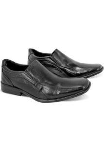Sapato Masculino Social Confort Pedigree Militar - Masculino-Preto
