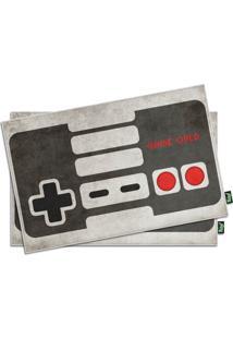 Jogo Americano Gamer Joystick Retrô (2 Peças) Geek10 Cinza