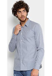 Camisa Calvin Klein Slim Xadrez Masculina - Masculino
