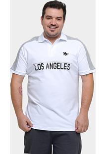 Camisa Polo Rg 518 Piquet La Recorte Plus Size - Masculino