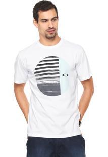 Camiseta Oakley Mod Disrupted Elipse Tee Branca