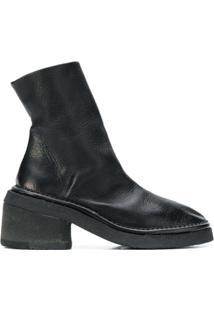 Marsèll Ankle Boot De Couro - Preto