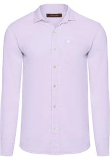 Camisa Masculina Frankie Linho - Roxo