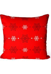 Capa De Almofada Love Decor Avulsa Decorativa Flocos De Neve - Vermelho - Dafiti